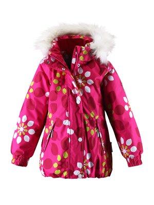 Куртка рожева в принт з капюшоном | 1378052