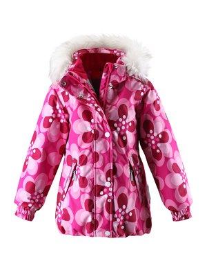 Куртка светло-розовая в принт с капюшоном | 1378054