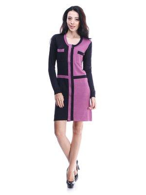 Платье черно-фиолетовое | 1386867