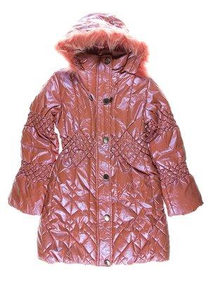 Пальто розовое утепленное | 1269897