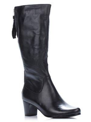 Сапоги черные с декором | 1401261