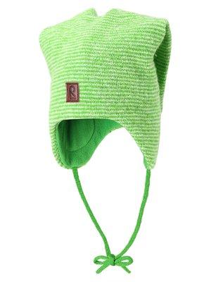 Шапка зеленая в мелкую полоску | 1403351