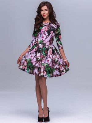 Платье цветочной расцветки   1404235