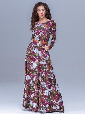 Сукня сіра в квітковий принт | 1409718