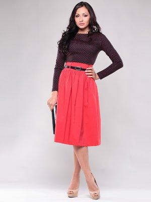 Платье черно-красное в горох | 1397220