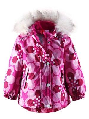 Куртка розовая в цветочный принт | 1422362