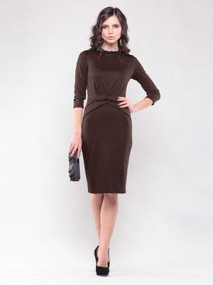 Платье шоколадного цвета   1439048