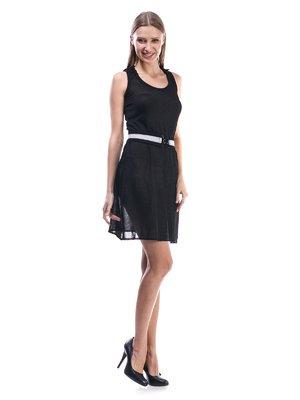 Сукня-туніка чорна з капюшоном - Miss Sixty - 13425