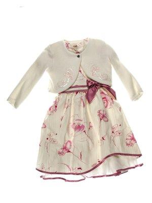 Платье молочное в цветочный принт   3343225