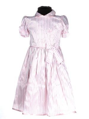 Платье розовое в полоску   3343246