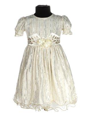 Платье молочного цвета с декором   3341226