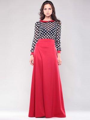 Сукня чорно-червона в горох | 1502158