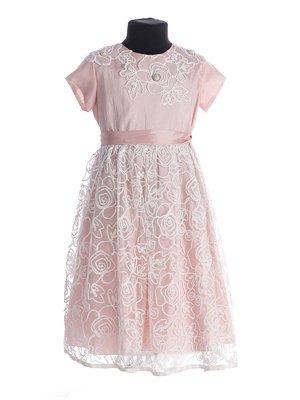 Сукня рожева з вишивкою | 3343242