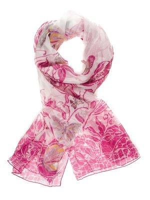Шарф розовый в принт   740122