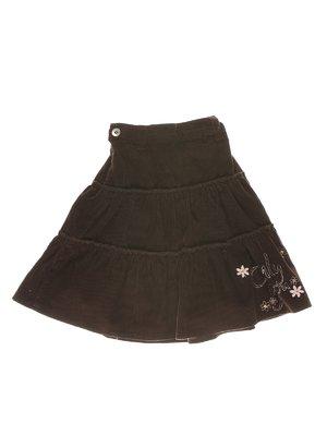 Юбка темно-коричневая с декором | 1364780