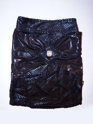 Юбка черная с декором | 1466494
