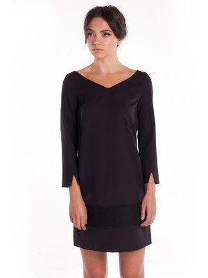Сукня чорна з мереживним оздобленням | 1345853