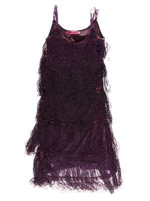 Сукня фіолетова з бахромою | 1523929