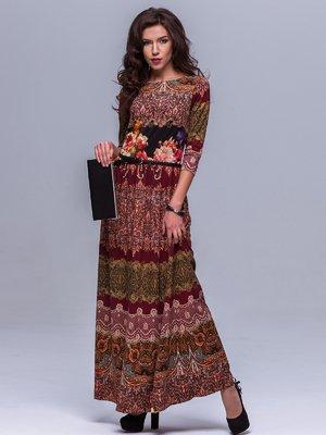 Платье терракотовое в орнамент | 1501587