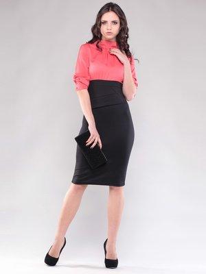 Сукня коралово-чорна   1545267