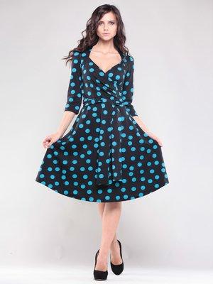 Сукня чорна в синій горох   1545320