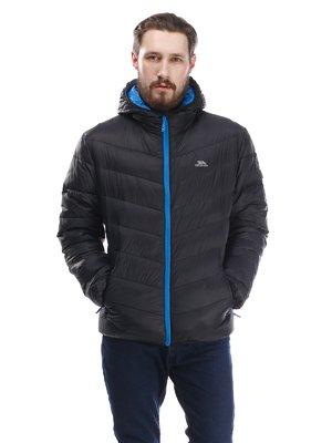 Куртка черная пуховая с капюшоном | 1545385