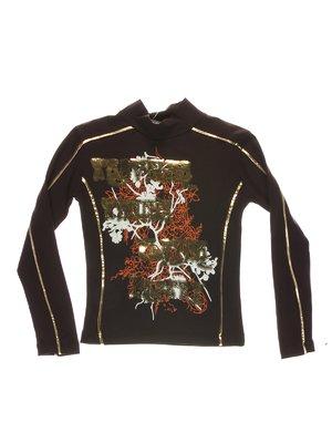 Гольф коричневий з принтом | 1547596