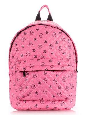 Рюкзак розовый в принт   1567996