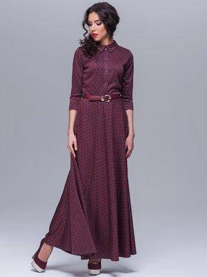 Платье бордовое в принт   1571028