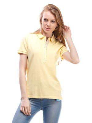 Футболка-поло желтая | 1560105