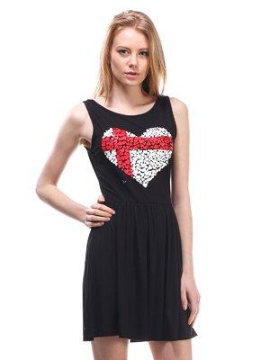 Платье черное с рисунком | 1560272