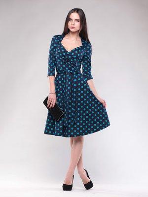 Сукня темно-синя в горох   1574523
