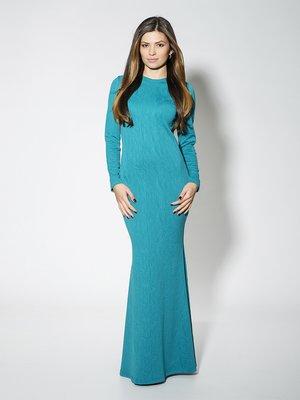 Сукня бірюзова в малюнок | 1573982
