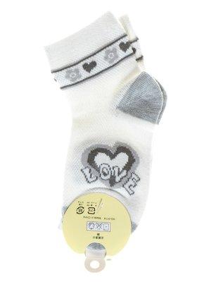 Шкарпетки молочного кольору з малюнком | 1594009