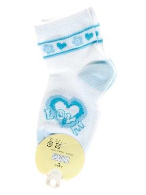 Шкарпетки білі з малюнком | 1594010