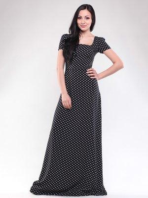 Сукня чорна в горох | 1619654