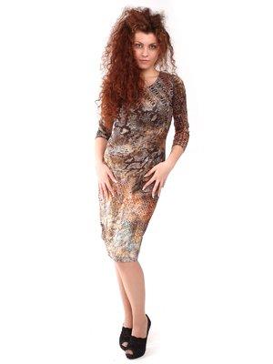 Платье комбинированной расцветки | 1234118