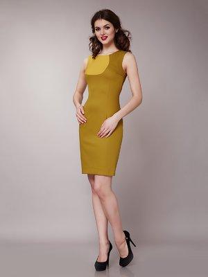 Платье горчично-оливкового цвета | 1579211