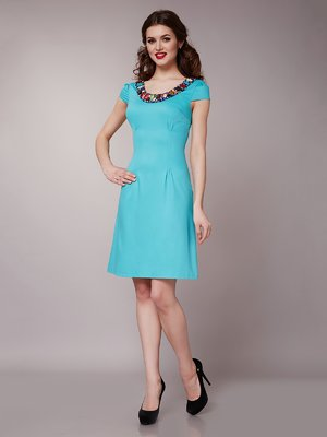 Платье бирюзовое | 1579216