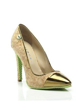 Туфли бежево-золотистые | 1632527