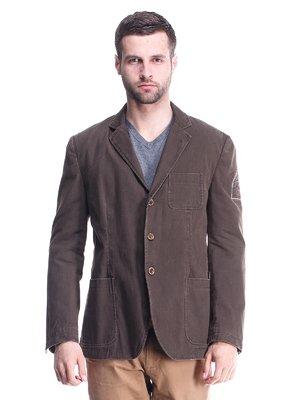 Піджак коричневий | 1631923