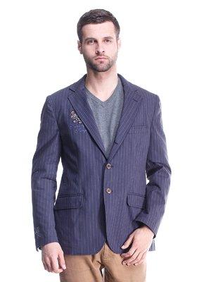 Піджак синій в смужку | 1631925