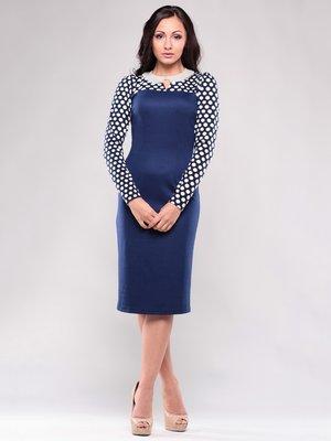 Сукня темно-синя в білий горох   1638428