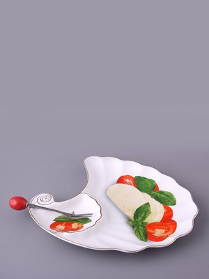 Блюдо «Моцарелла» с вилкой | 1641034