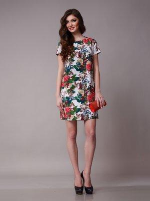 Платье молочного цвета в цветочный принт - Petra D'Lux - 1641386