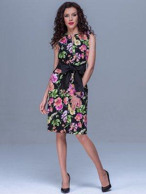 Сукня чорна в квітковий принт | 1654474