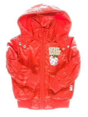 Куртка красная с капюшоном   1651436
