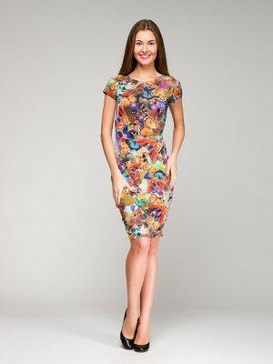 Сукня в різнобарвний принт | 1659310