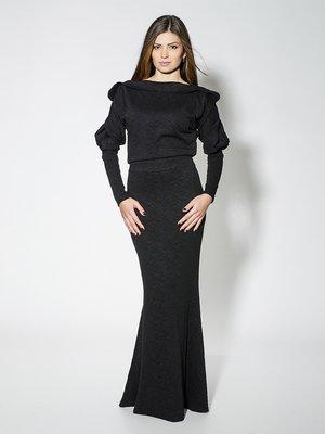 Сукня чорна у візерунок | 1664485