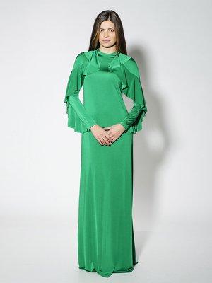 Сукня зелена з воланами | 1664476